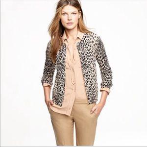 J.Crew | leopard print cardigan sz S